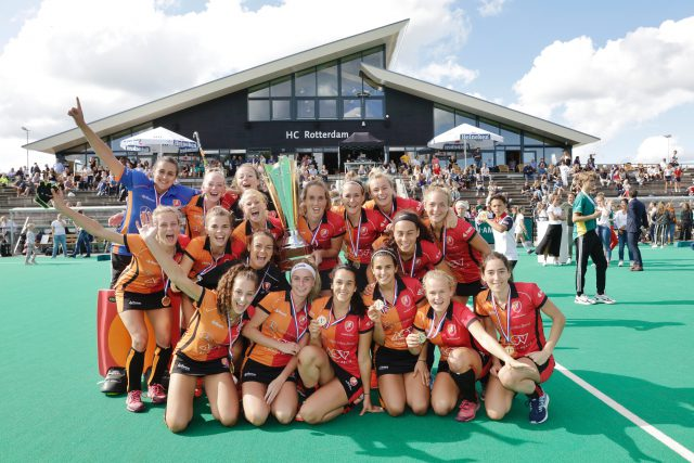 Oranje-Rood D1 en AH&BC H1 winnaars eerste editie ABN AMRO Hockey Weekend